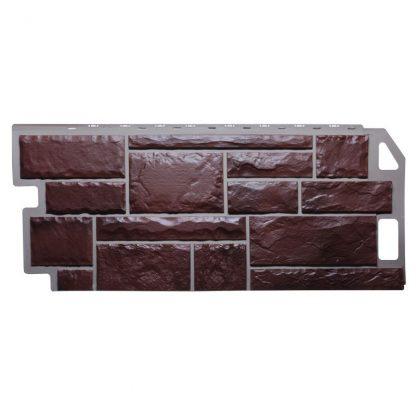 Панель фасадная FineBer Камень коричневый 1137х470мм