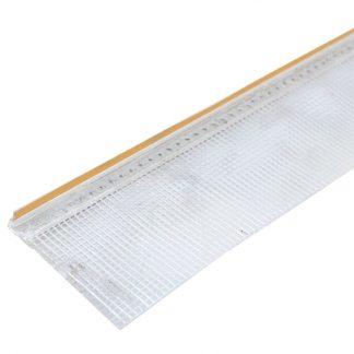 Профиль примыкающий оконный с армирующей сеткой ПВХ 6мм L=2