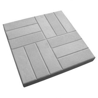 Плитка тротуарная 12 кирпичей (500х500х50) серая