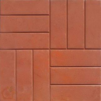 Плитка тротуарная 12 кирпичей (500х500х50) красная