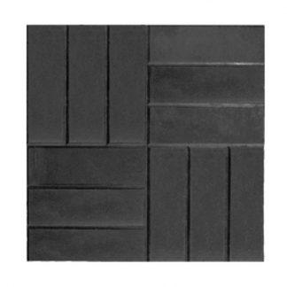 Плитка тротуарная 12 кирпичей (500х500х50) черная