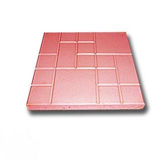 Плитка тротуарная Рваная сетка красная (250х250х25)