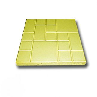 Плитка тротуарная Рваная сетка желтая (250х250х25)
