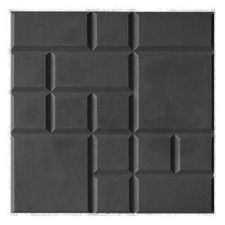 Плитка тротуарная Рваная сетка черный (250х250х25)