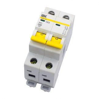 Автоматический выключатель двухполюсной 63А IEK