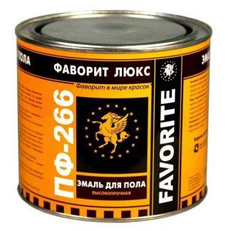 Эмаль ПФ-266 Фаворит золотисто-коричневая 2.4кг