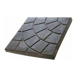 Плитка тротуарная Паутинка 300х300х30мм коричневый