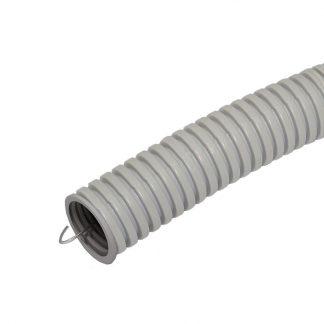 Труба гофрированная ПВХ 25мм с протяжкой лёгкая (50м) Промрукав