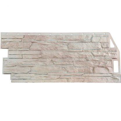 Панель фасадная FineBer Скала мелованный белый 1094х459мм